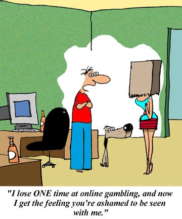 Gambling cartoons